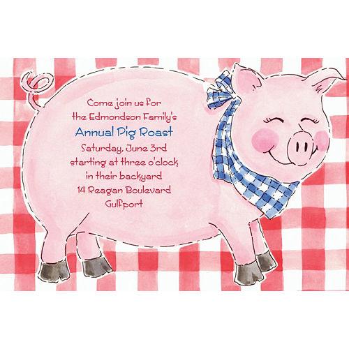 Custom Big Pig Roast Invitations Image #1