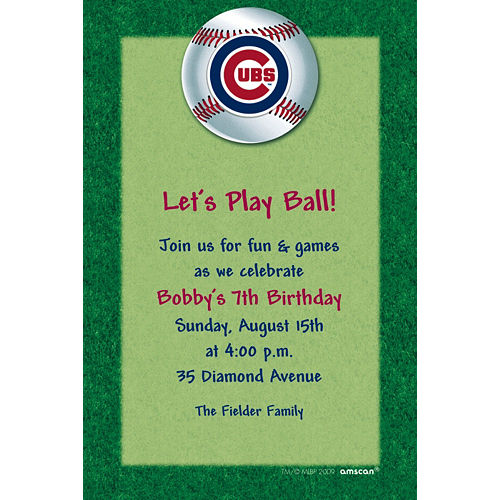 Custom Chicago Cubs Invitations Image #1