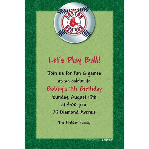Custom Boston Red Sox Invitations Image #1