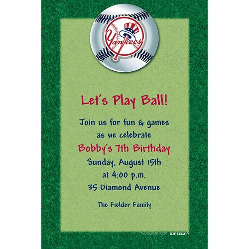 Custom New York Yankees Invitations Image #1