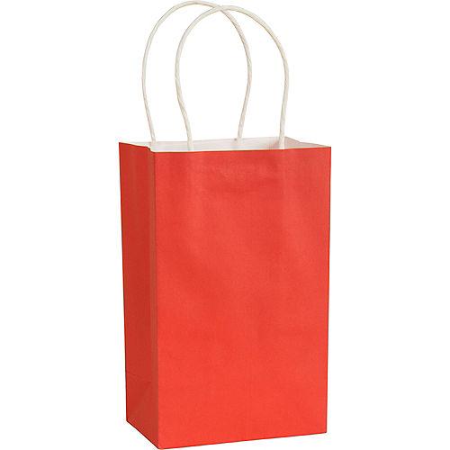 Medium Red Kraft Bags 10ct Image #1