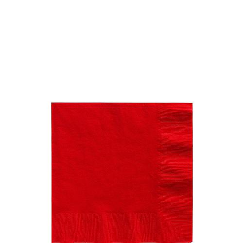Red Paper Beverage Napkins, 5in, 40ct Image #1