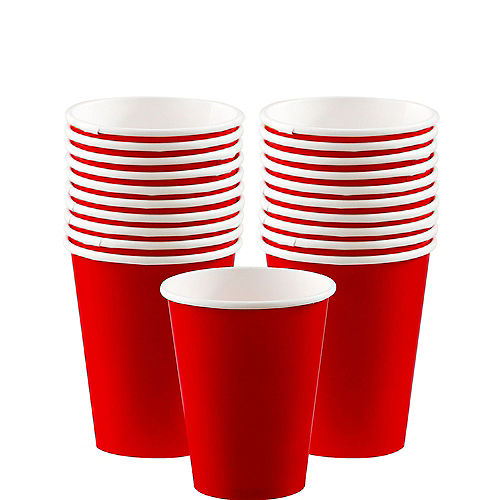 Red Paper Cups 20ct Image #1