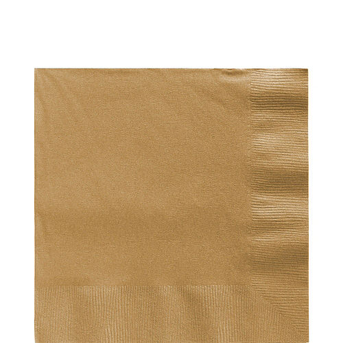 Gold Paper Lunch Napkins, 6.5in, 40ct Image #1
