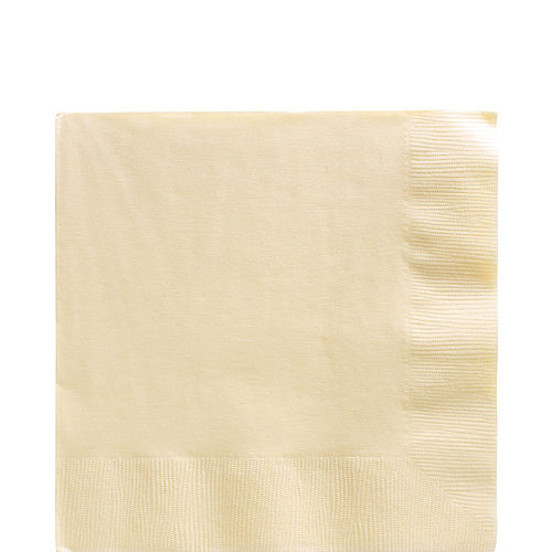 Vanilla Cream Paper Lunch Napkins, 6.5in, 40ct Image #1