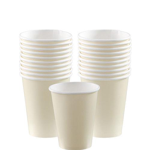 Vanilla Cream Paper Cups 20ct Image #1