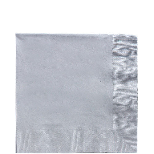 Silver Paper Lunch Napkins, 6.5in, 40ct Image #1