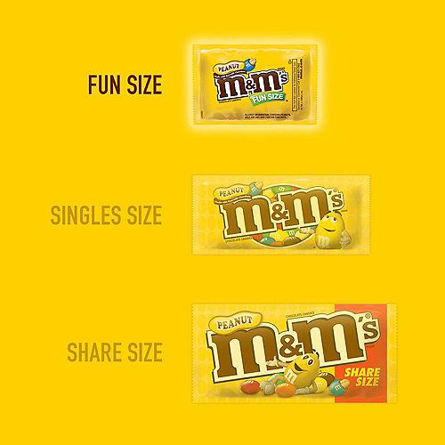 Milk Chocolate Peanut M&M's Fun Size Packs, 17ct Image #2