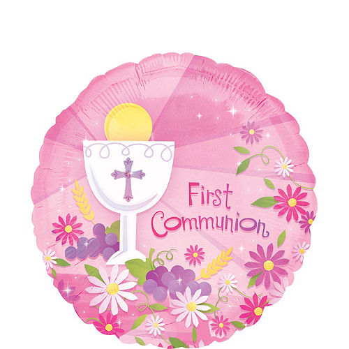 First Communion Balloon - Girl's Blessings, 17in Image #1