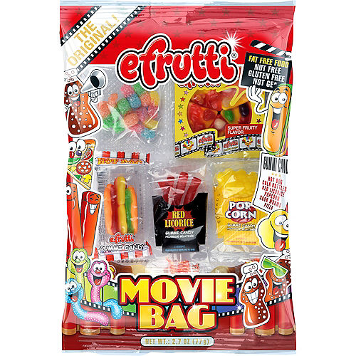 Efrutti Assorted Gummy Pouches Movie Bag 6ct Image #1