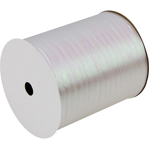 Iridescent White Curling Ribbon Image #1