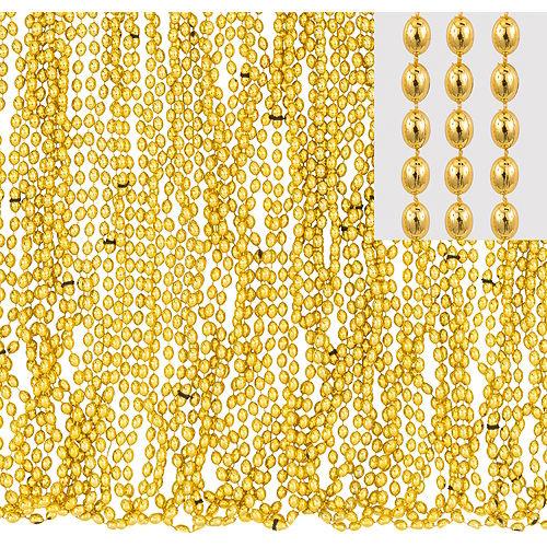 Metallic Gold Bead Necklaces 50ct Image #1