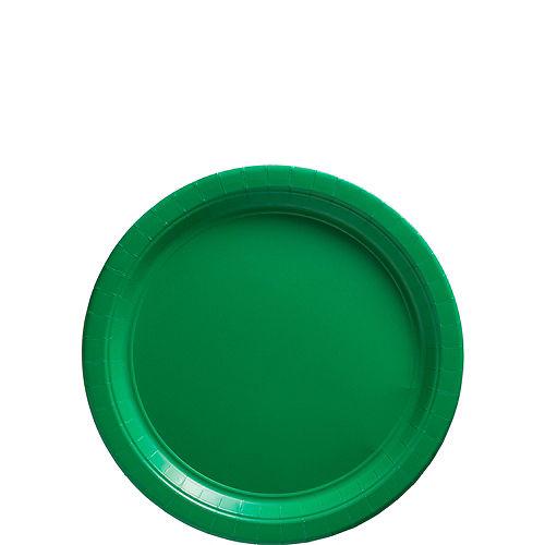 Festive Green Paper Dessert Plates, 6.75in, 50ct Image #1