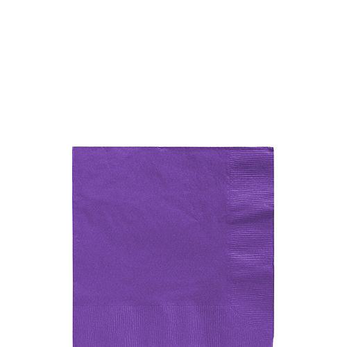 Purple Paper Beverage Napkins, 5in, 100ct Image #1