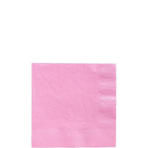 Pink Paper Beverage Napkins, 5in, 100ct Image #1
