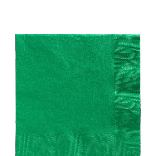 Festive Green Paper Lunch Napkins, 6.5in, 100ct Image #1