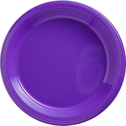 Purple Plastic Dinner Plates, 10.25in, 50ct Image #1