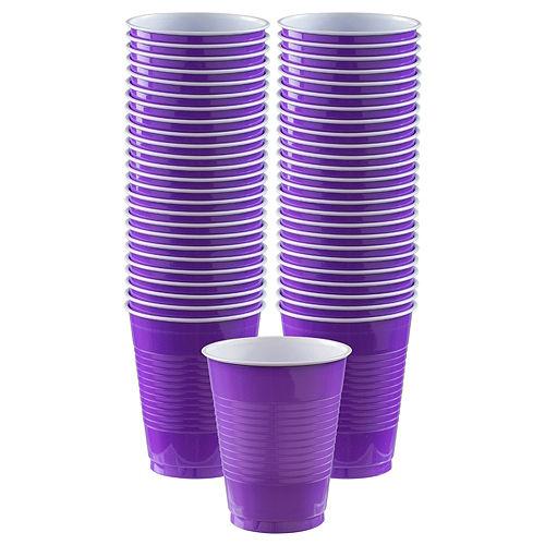 Purple Plastic Cups, 16oz, 50ct Image #1