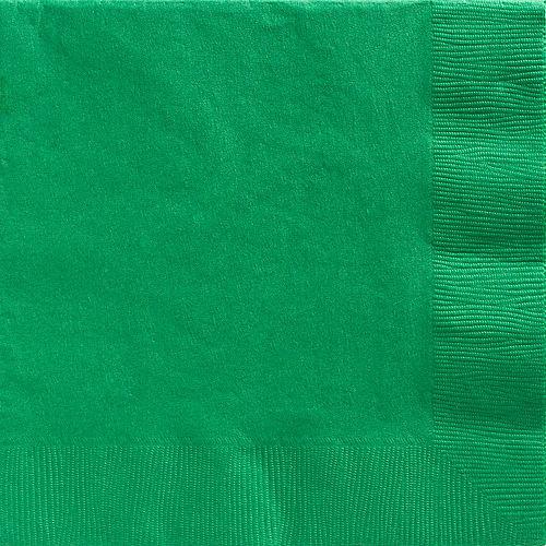 Festive Green Paper Dinner Napkins, 7.6in, 40ct Image #1