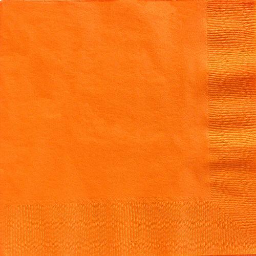 Orange Paper Dinner Napkins, 7.6in, 40ct Image #1