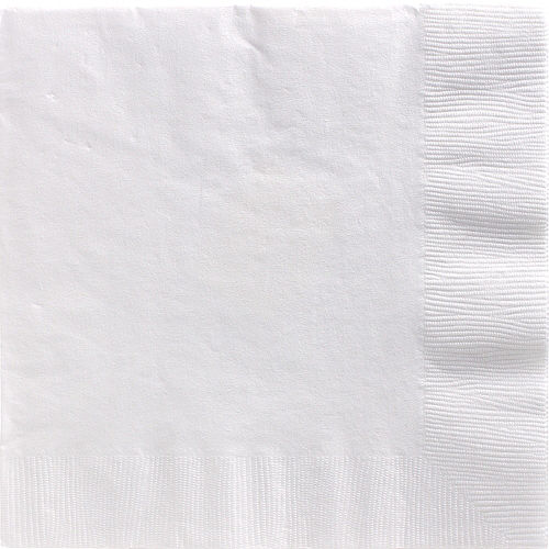 White Paper Dinner Napkins, 7.6in, 40ct Image #1