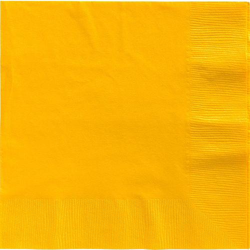 Sunshine Yellow Paper Dinner Napkins, 7.6in, 40ct Image #1