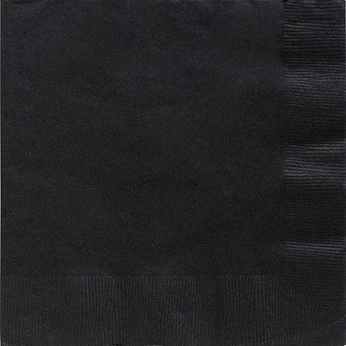 Black Paper Dinner Napkins, 7.6in, 40ct Image #1