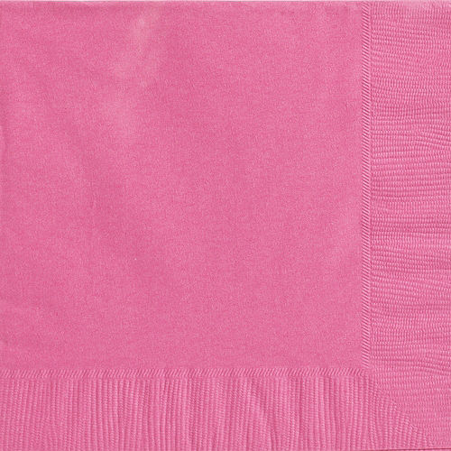 Bright Pink Paper Dinner Napkins, 7.6in, 40ct Image #1