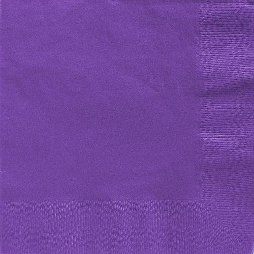 Purple Paper Dinner Napkins, 7.6in, 40ct Image #1