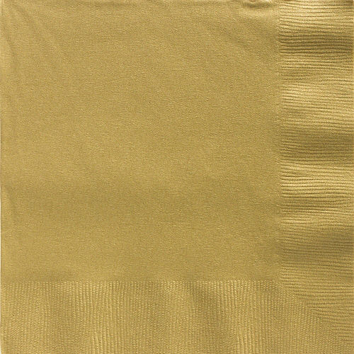 Gold Paper Dinner Napkins, 7.6in, 40ct Image #1