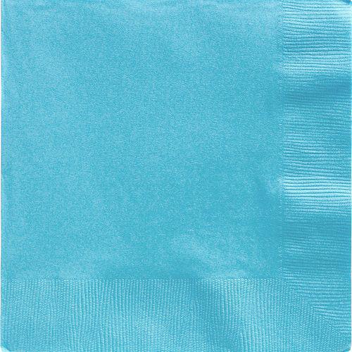 Caribbean Blue Paper Dinner Napkins, 7.6in, 40ct Image #1