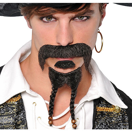 Pirate Moustache & Goatee Set Image #1