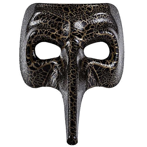 Black & Gold Crackle Long Nose Mask Image #2