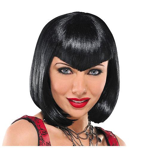 Va Va Vampiress Short Black Wig Image #1