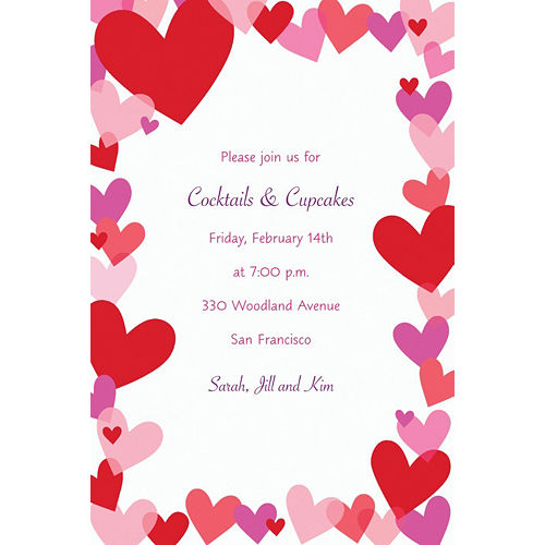 Custom Hearts Valentine's Day Invitations Image #1