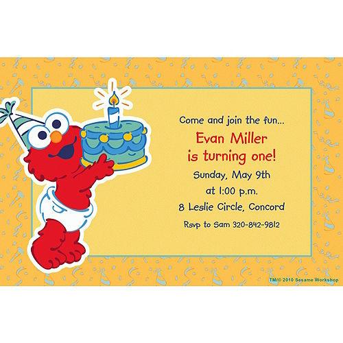 Custom Elmo First Birthday Invitations Image #1