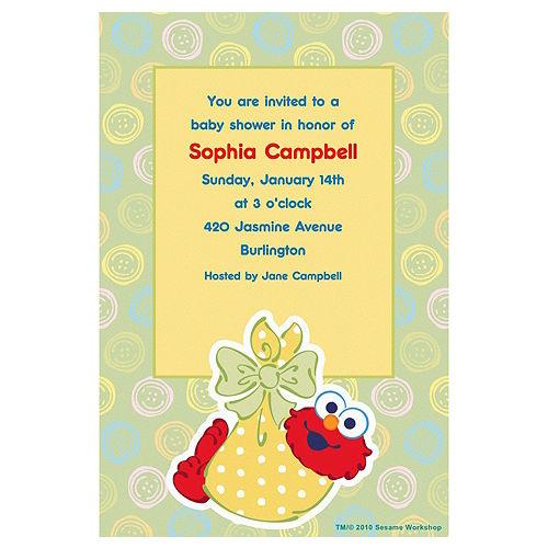 Custom Baby Elmo Baby Shower Invitations Image #1