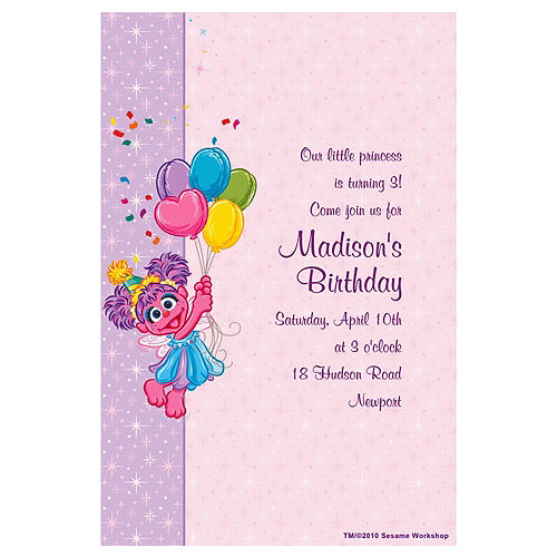 Custom Abby Cadabby Birthday Invitations Image #1