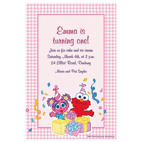 Custom Abby Cadabby 1st Birthday Invitations Image #1