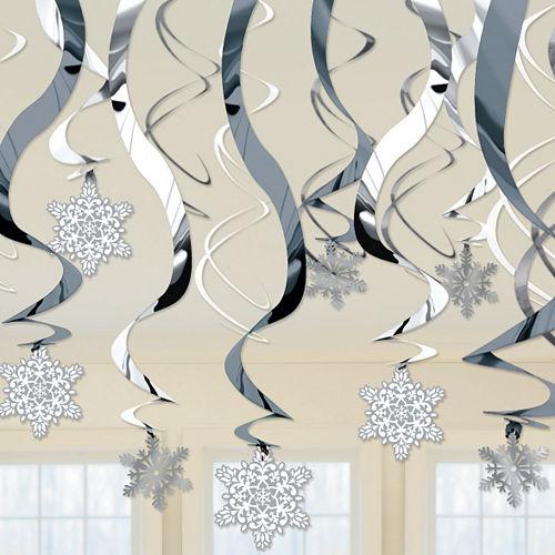 Snowflake Swirl Decorations 30ct Image #2