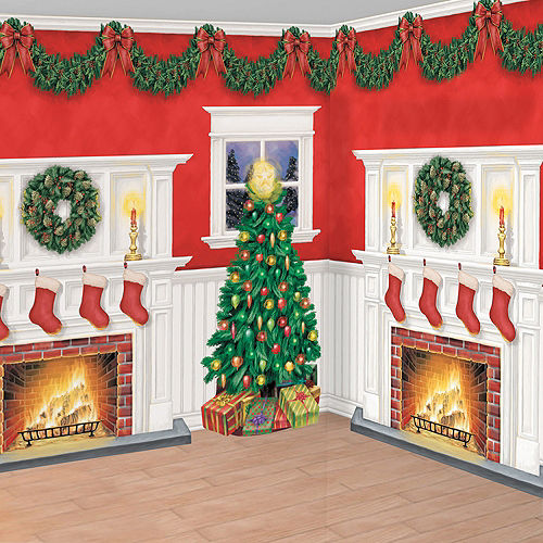 Home for Christmas Room Decorating Kit 6pc Image #1