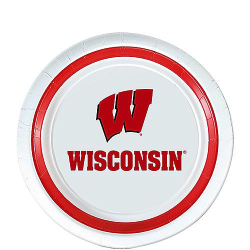 Wisconsin Badgers Dessert Plates 12ct Image #1
