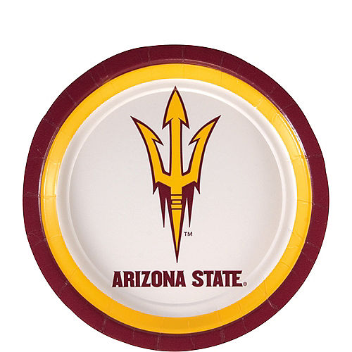 Arizona State Sun Devils Dessert Plates 8ct Image #1