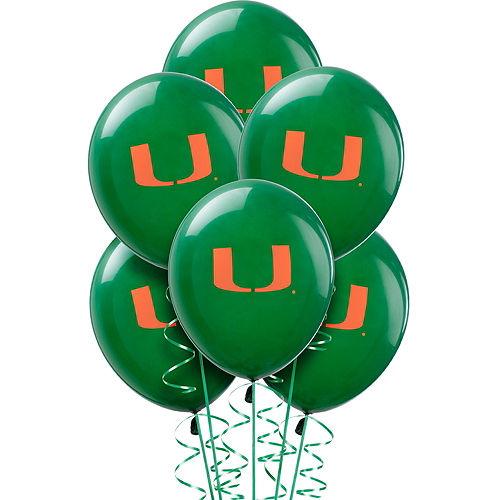 Miami Hurricanes Balloons 10ct Image #1