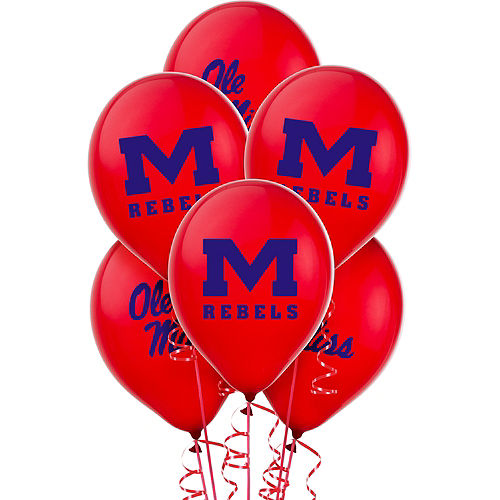 Ole Miss Rebels Balloons 10ct Image #1