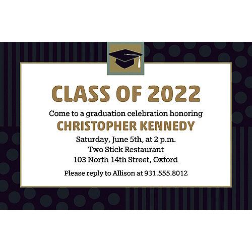 Custom Class Pride Graduation Invitations  Image #1