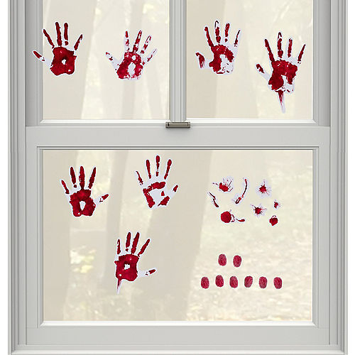 Bloody Hand Print Wall Decals 19pc Image #1