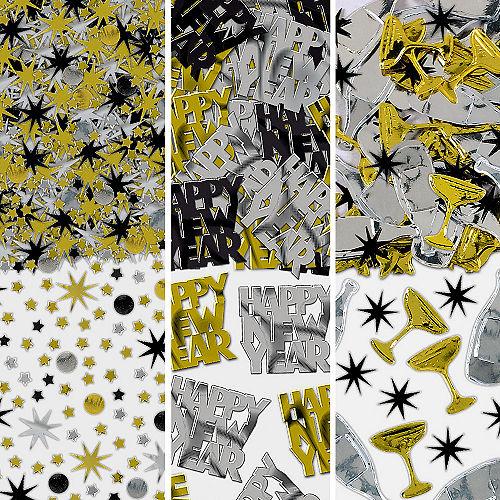 Black, Gold & Silver New Year's Confetti Image #1