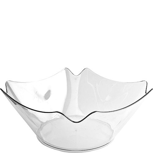 CLEAR Plastic Flower Bowl Image #1