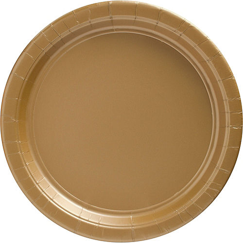 Gold Paper Dinner Plates, 10in, 20ct Image #1